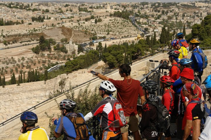 biking in Jerusalem