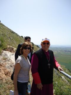 Bishop Boutros Marcuzzo and Elisa Moed on the Gospel Trail