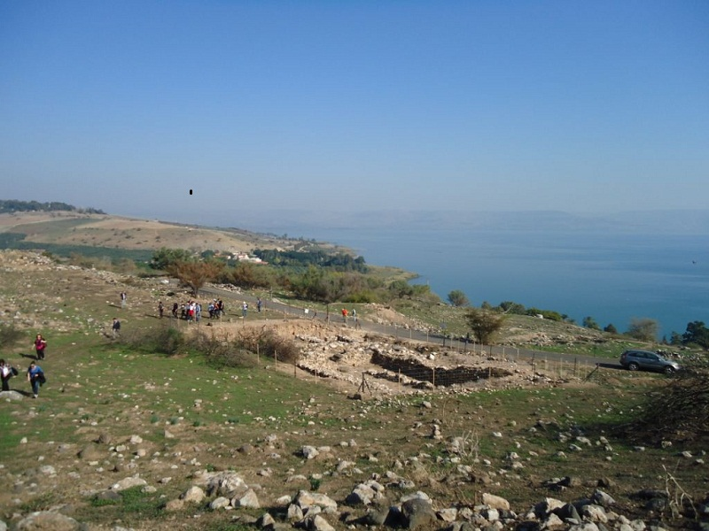 archaeological excavations by Tel Kinrot at the Sea of Galilee