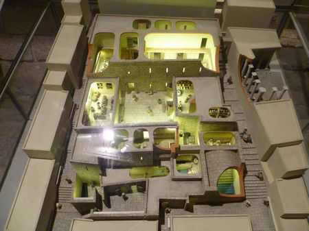 A model of the Herodian Quarter as it would have looked at the time of Jesus