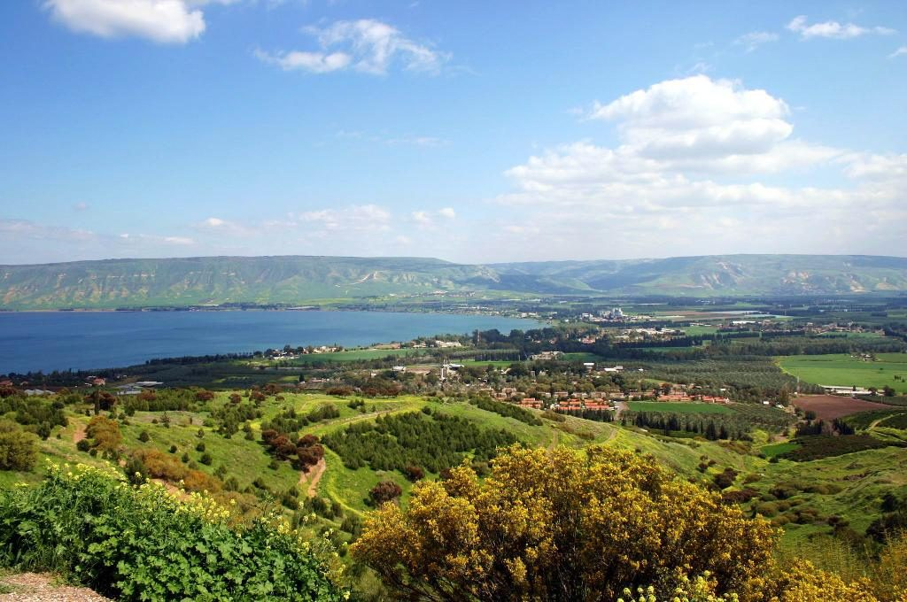 Overlooking the Sea of Galilee